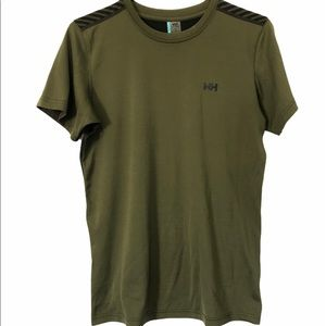 Helly Hansen Olive Green Breathable T-Shirt, Small